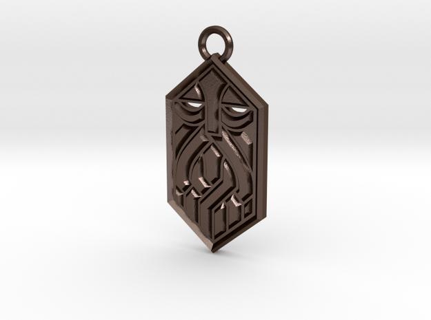 Dwarven Sigil in Polished Bronze Steel