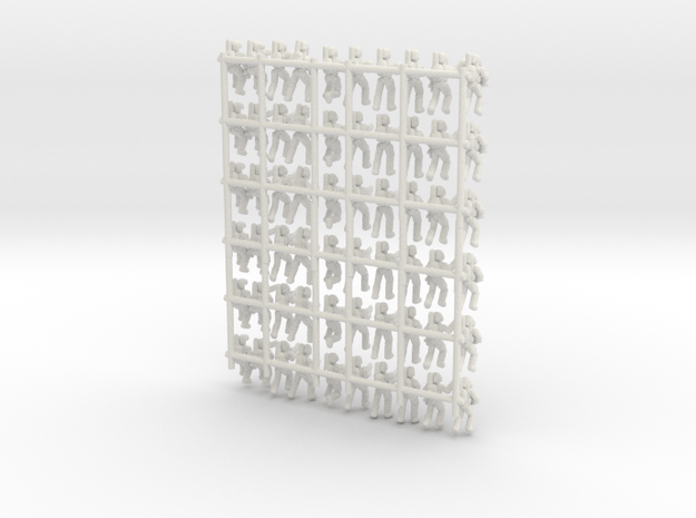 Confederate Infantry (No Bases) in White Natural Versatile Plastic