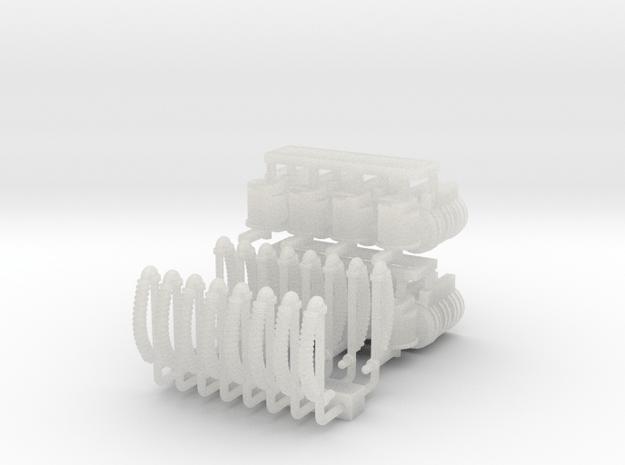 ZB (H0e) - Bremsen-Zurüstsatz für 8 2ax-Güterwagen in Smooth Fine Detail Plastic