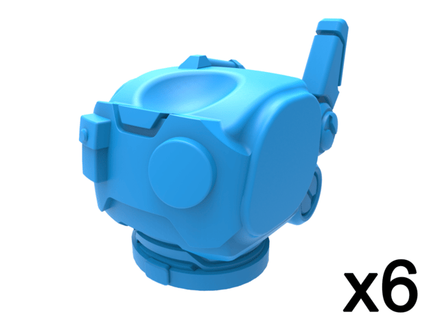 Infantry Torsos - Rugged Survivalist x6 in Smooth Fine Detail Plastic