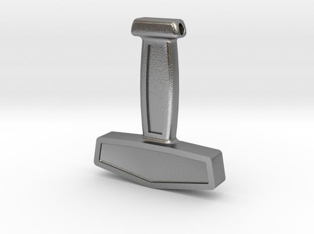 Þórshamar - Thor's hammer in Natural Silver