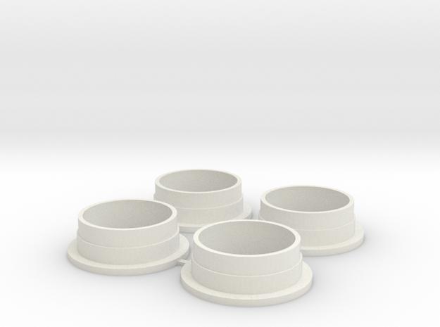 N5 Tamiya 53111 spring spacer sleeved damper in White Natural Versatile Plastic