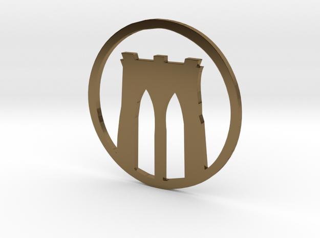 Brooklyn Bridge pendant in Polished Bronze