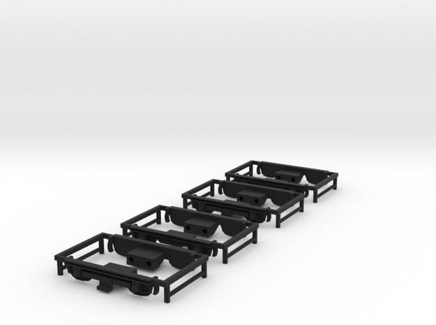 U-Bahn A1 Drehgestellblenden für Tw + Bw in Black Natural Versatile Plastic