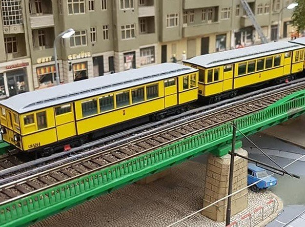 U-Bahn Berlin Typ A1 Triebwagen 5 Fenster, H0 in Smooth Fine Detail Plastic