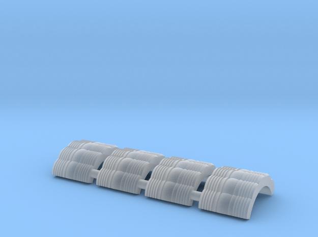 "2.5"" Scale 1:4.8 D&RGW Handlan Radial LENSES in Smooth Fine Detail Plastic"