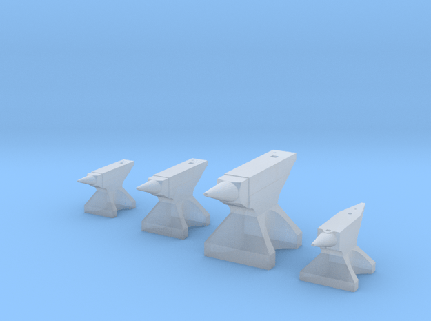 Anvils, Assortment of 4 in Smooth Fine Detail Plastic: 1:20