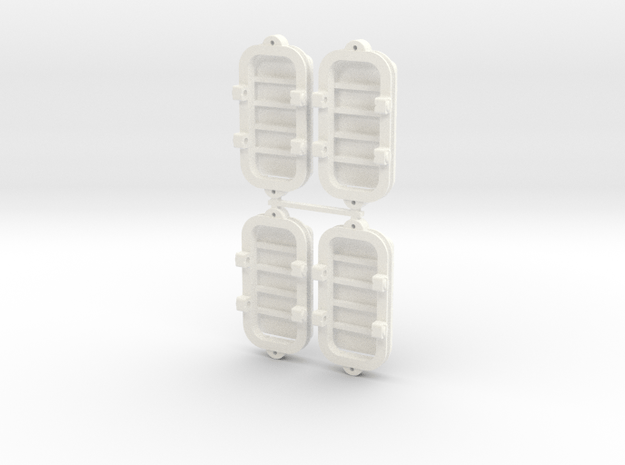 Mining flat car H0e (N.4) in White Processed Versatile Plastic