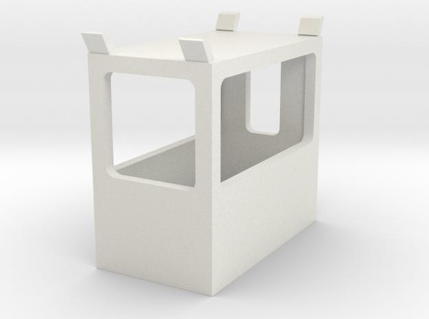1/64 Sugar Beet Piler Side Dump Control Cabin in White Natural Versatile Plastic