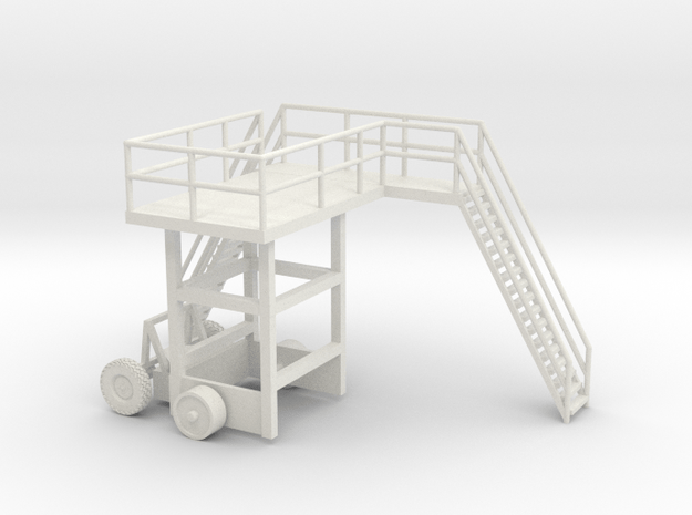 1/64 Side Dump Control Tower  in White Natural Versatile Plastic