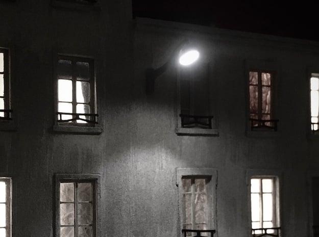 Street light (x12) - Ho 1:87 in White Natural Versatile Plastic