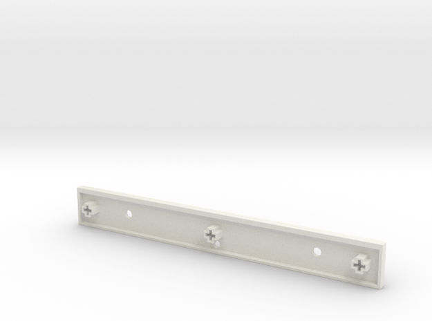 SPACEBAR,2X16,CENTERED,SUPPORTS - Rev2 in White Natural Versatile Plastic