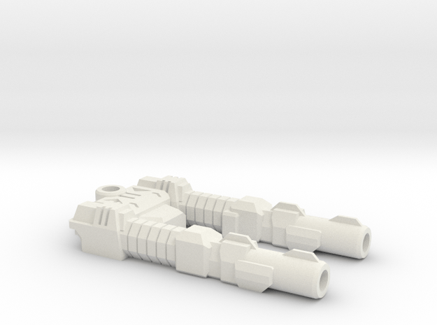 TF CW Car Offroad Slim Car Cannon in White Natural Versatile Plastic