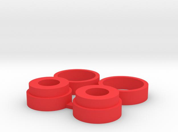 Naben und Lagerring Kombo Bruder Schneeschleuder in Red Processed Versatile Plastic