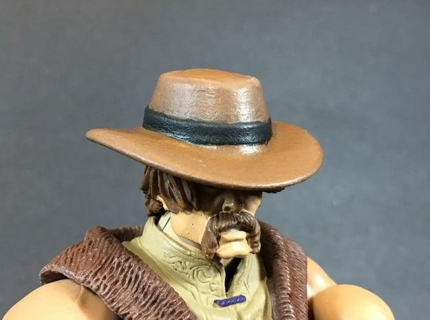 CowBoy hat for classics action figures in White Natural Versatile Plastic