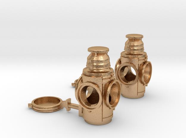 Handlan 4-Way Marker Lamps (Pair) in Natural Bronze: 1:20