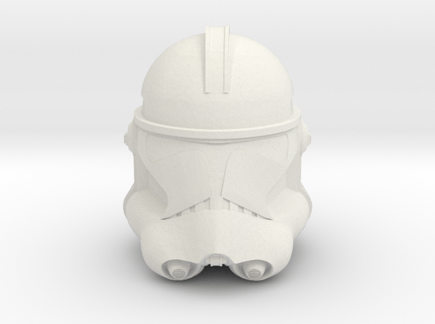 Phase II Clone Helmet   CCBS Scale in White Natural Versatile Plastic