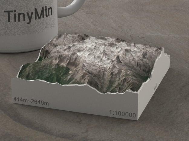 Picos de Europa, Spain, 1:100000 in Natural Full Color Sandstone
