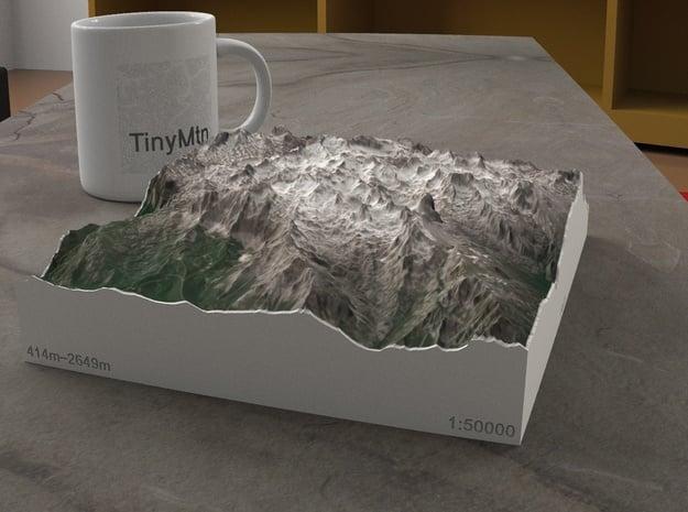 Picos de Europa, Spain, 1:50000 in Natural Full Color Sandstone
