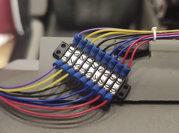 1:6 BTTF DeLorean Dashboard wires terminal in Smoothest Fine Detail Plastic