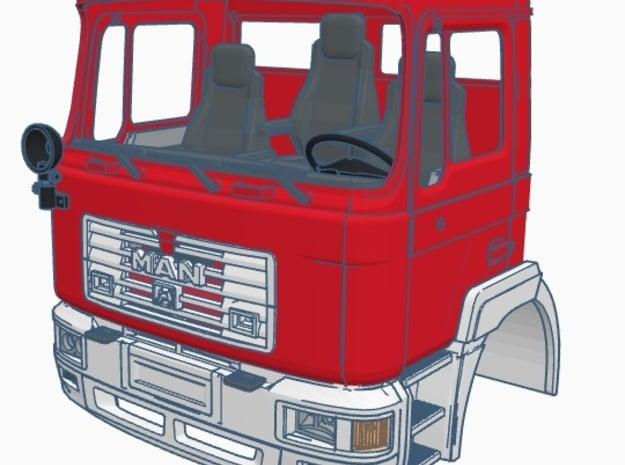 1:14 MAN F90 Feuerwehr Fire Brigade Set 5 of 5 in Smoothest Fine Detail Plastic