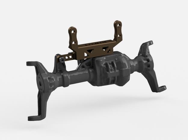 Metal Servo Mount V5 for Traxxas Portal TRX4 in Polished Bronzed-Silver Steel