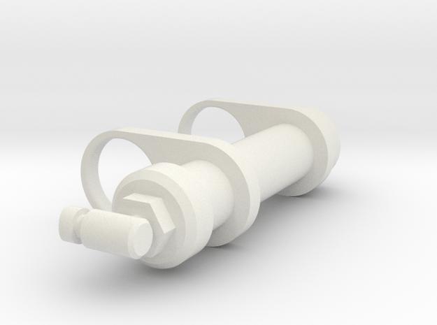 Small Shock Reservoir in White Natural Versatile Plastic
