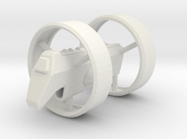 HO Scale Alcubierre Warp Drive Ship Model in White Natural Versatile Plastic