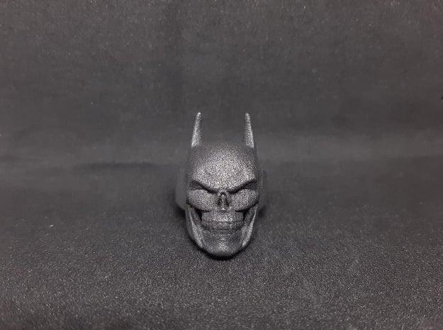 Batman Skull Ring in Matte Black Steel: 9 / 59