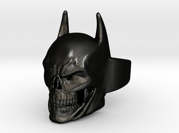 Batman Skull Ring Shapeways (Size 8 US) in Matte Black Steel