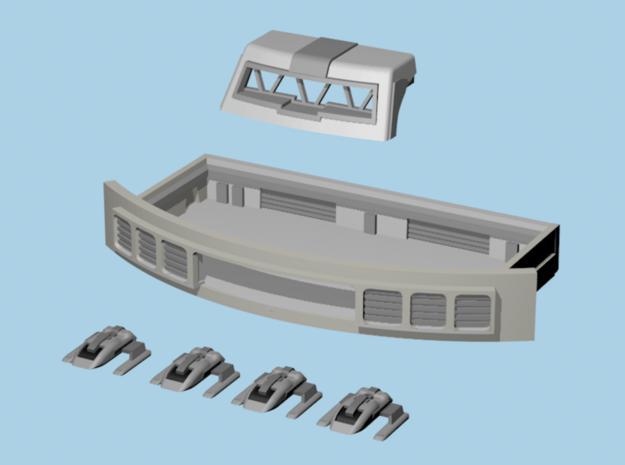 1/1400 Enterprise E O-Deck/Shuttle Bay Set in Smooth Fine Detail Plastic