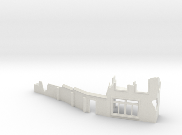 1/144 French street with ruins in White Natural Versatile Plastic
