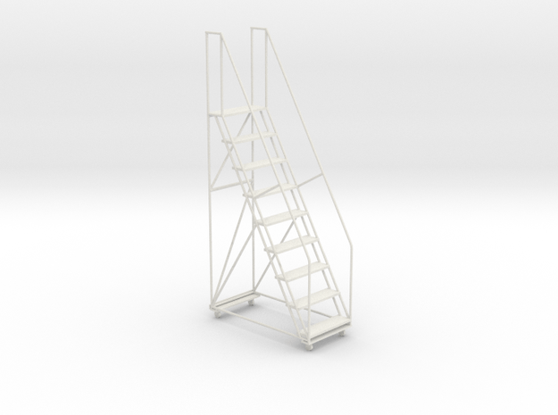 1:24 Industrial Staircase in White Natural Versatile Plastic