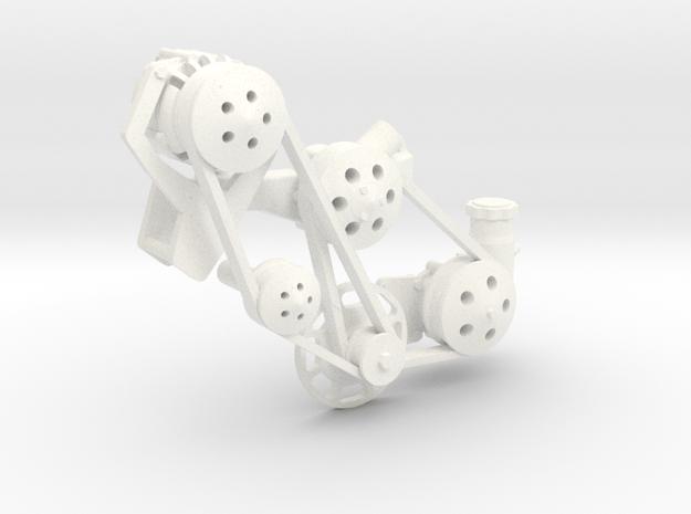 Brodix BBC serpentine 1/8 in White Processed Versatile Plastic