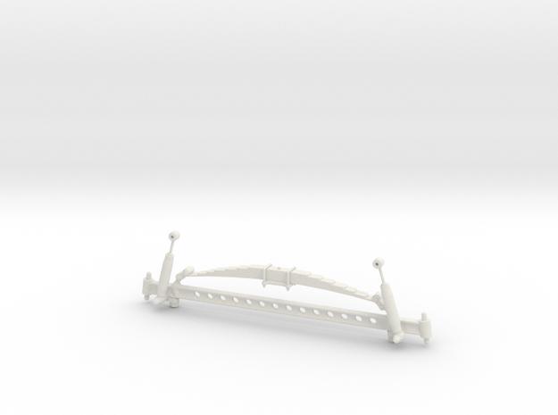 1/8 scale Straight Axle. in White Natural Versatile Plastic