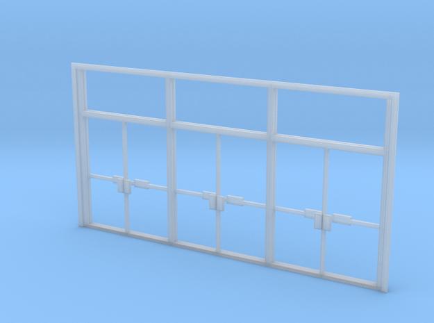 Triple Double Glass Door - HO in Smooth Fine Detail Plastic