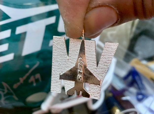 NY JETS JET PLANE in Fine Detail Polished Silver