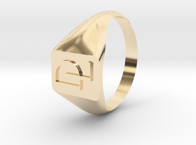 signet dom lo size 6 in 14K Yellow Gold