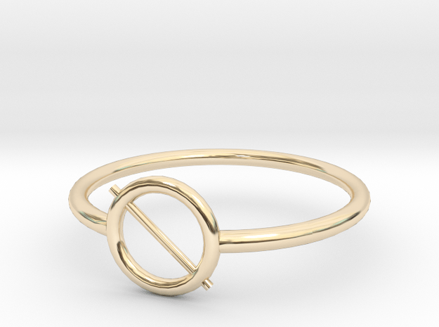 dom lo o ring size 7 in 14K Yellow Gold