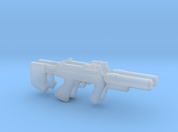 M7S Caseless Submachine Gun 3.75 scale (2 pistols) in Smooth Fine Detail Plastic
