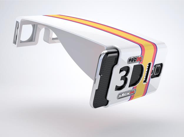 PRO-3D Stereoscopic attachment for Samsung Galaxy  in White Natural Versatile Plastic