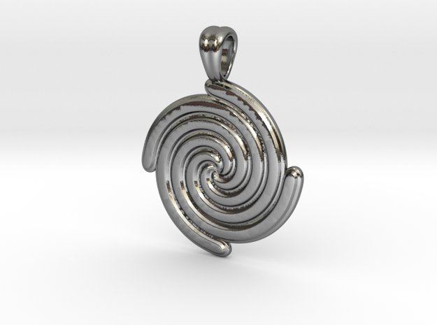 Life's spirals [pendant] in Polished Silver