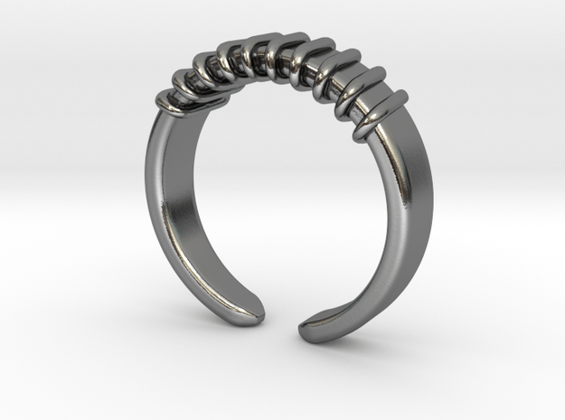 Spring ring [sizable] in Polished Silver
