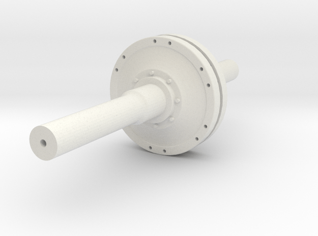 HO Scale Steel Double Flange / Industrial Clutch  in White Natural Versatile Plastic