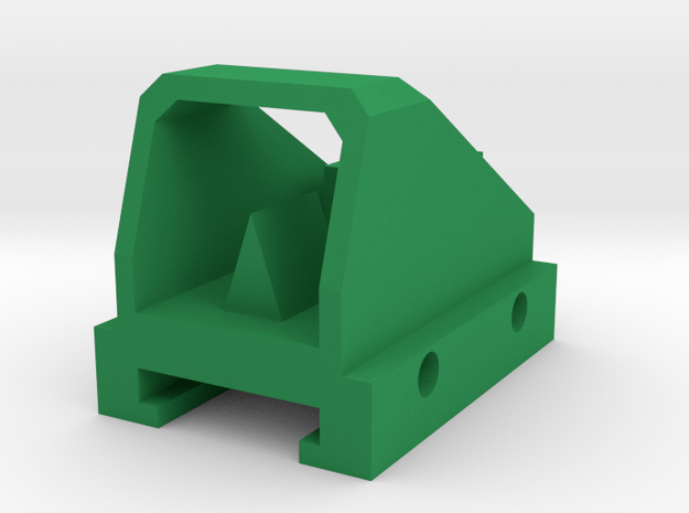 Mini Dot Sight for Nerf Rail in Green Processed Versatile Plastic