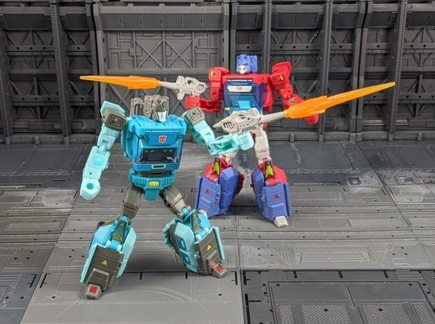 TF Titans Return Kup Weapon 2 pack in White Natural Versatile Plastic