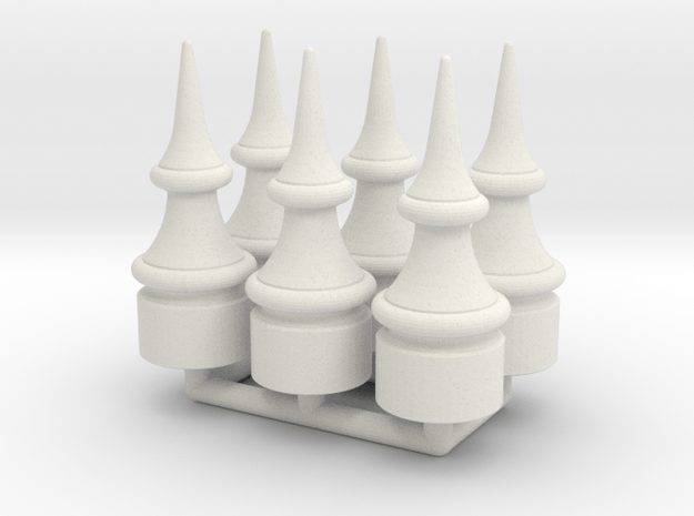 US&S Semaphore Finial 1:19 scale Pack in White Natural Versatile Plastic