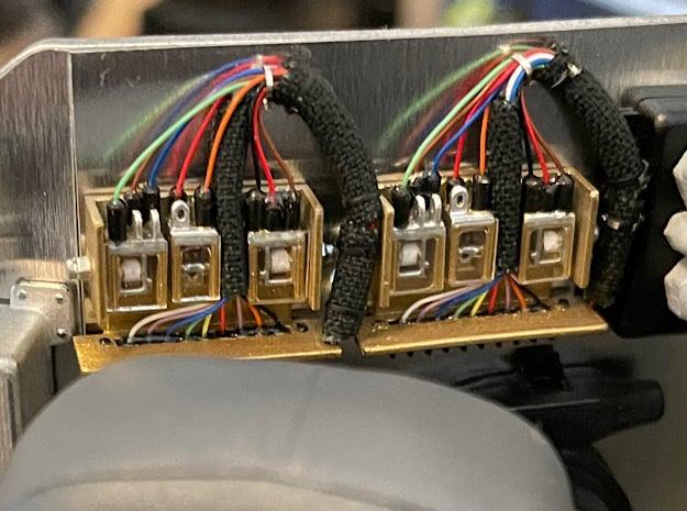 1:8 BTTF DeLorean golden relays in Smoothest Fine Detail Plastic