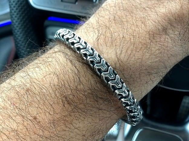 Combine Cuff Medium Narrow in Antique Silver