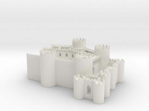 Conway Castle T gauge 1.450 Back End  in White Natural Versatile Plastic